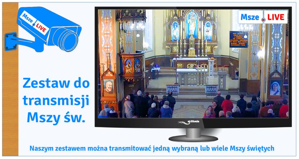 Zestaw do transmisji Mszy świętych